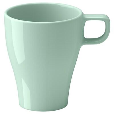 ФЕРГРІК чашка світло-зелений 11 см 25 сл