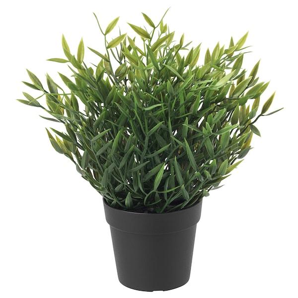 ФЕЙКА штучна рослина в горщику  для приміщення/вулиці Кімнатний бамбук 26 см 9 см