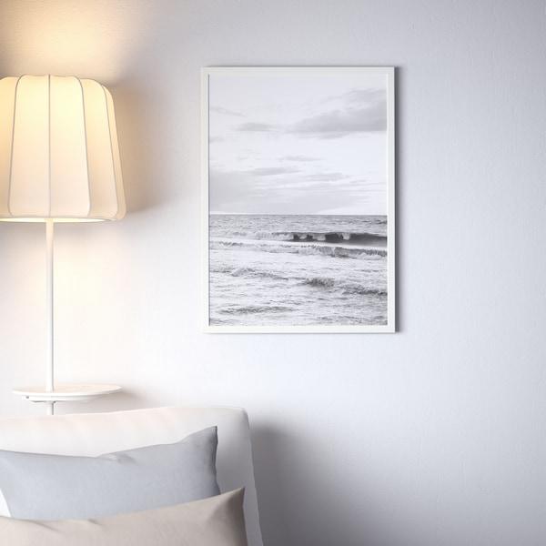 FISKBO ФІСКБУ Рамка, білий, 50x70 см