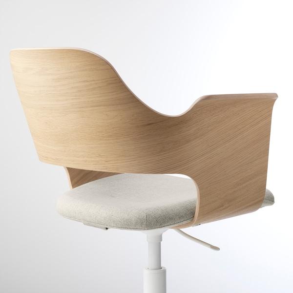 ФЙЕЛЛЬБЕРГЕТ крісло для конференцій білений дубовий шпон/ГУННАРЕД бежевий 110 кг 67 см 67 см 86 см 42 см 40 см 43 см 56 см