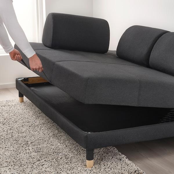 FLOTTEBO ФЛОТТЕБО Диван-ліжко, ВІССЛЕ темно-сірий, 120 см