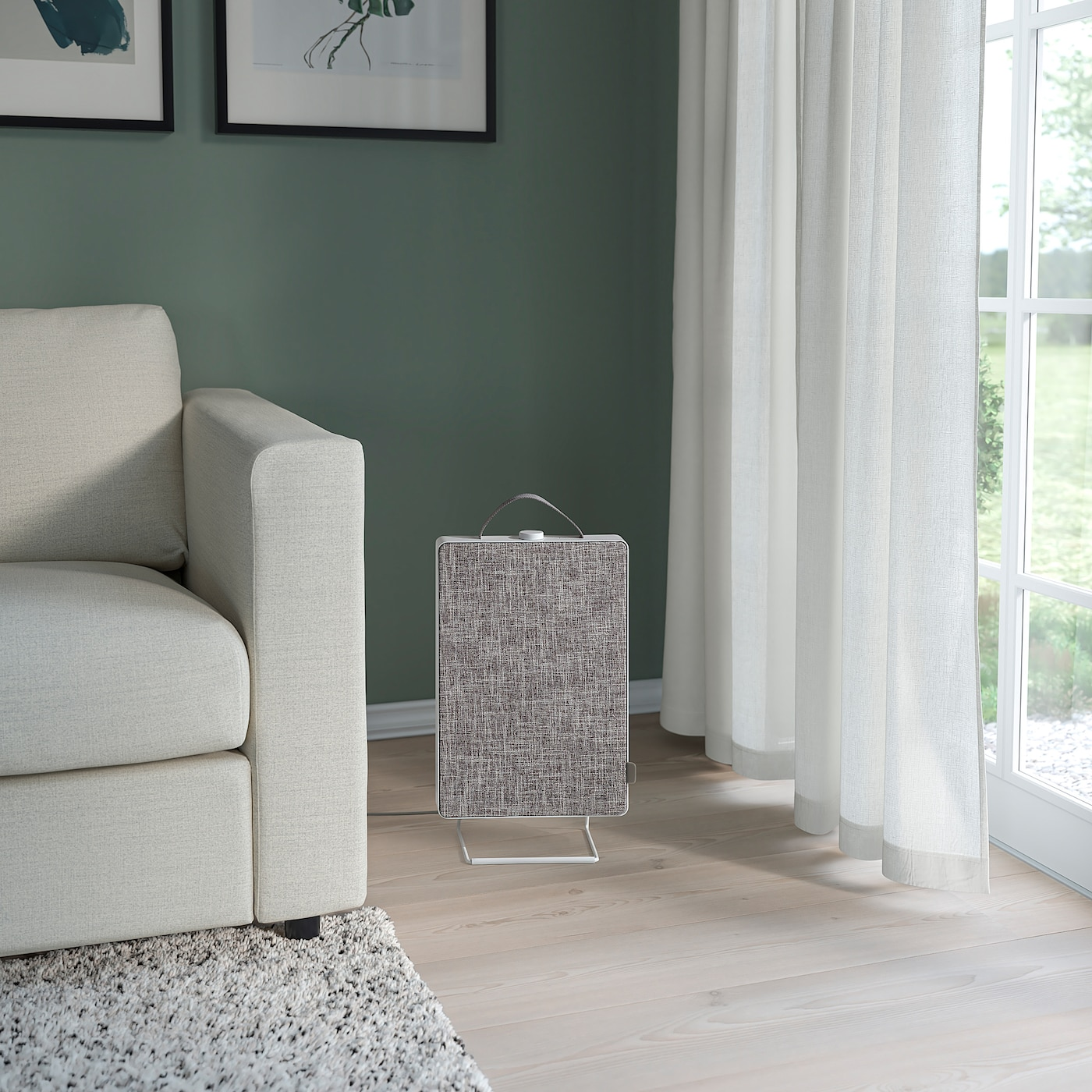 FÖRNUFTIG ФЕРНУФТІГ Очищувач повітря, білий, 31x45 см