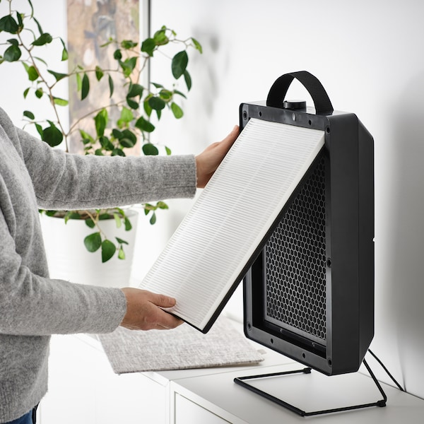 FÖRNUFTIG ФЕРНУФТІГ Очищувач повітря, чорний, 31x45 см