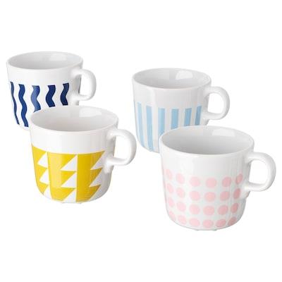 ФРАМКАЛЛА чашка різні орнаменти 8 см 21 сл 4 штук