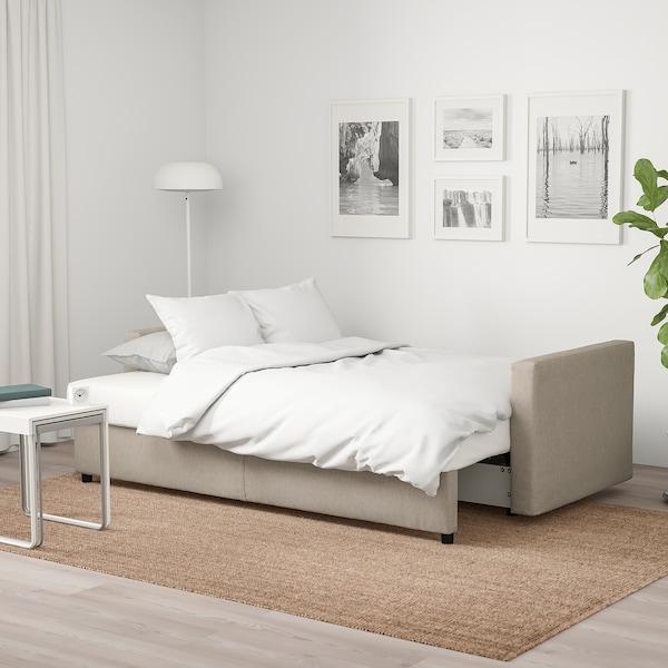 FRIHETEN ФРІХЕТЕН 3-місний диван-ліжко, ХЮЛЛІЕ бежевий