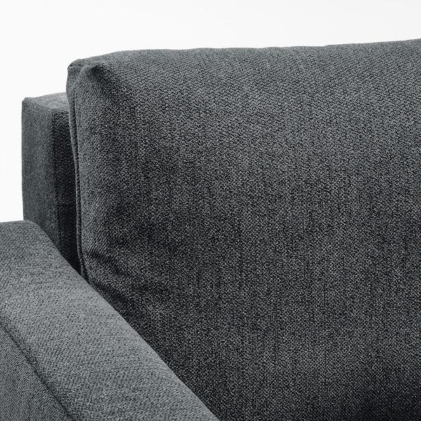 FRIHETEN ФРІХЕТЕН 3-місний диван-ліжко, ХЮЛЛІЕ темно-сірий