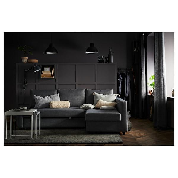 ФРІХЕТЕН кутов диван-ліжко із відд д/зберіг СКІФТЕБУ темно-сірий 230 см 151 см 66 см 140 см 204 см