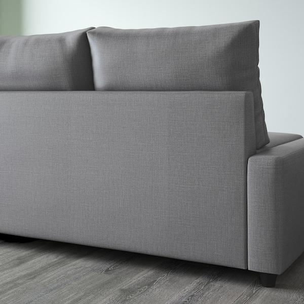 FRIHETEN ФРІХЕТЕН Кутов диван-ліжко із відд д/зберіг, СКІФТЕБУ темно-сірий