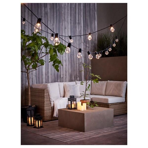 GODAFTON ГОДАФТОН LED формов свіч, кімнатна/вул, на батерейках/натуральний, 14 см