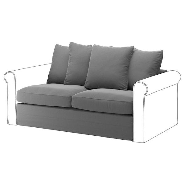 GRÖNLID ГРЕНЛІД Секція 2-місного дивана-ліжка, ЛЬЙУНГЕН класичний сірий