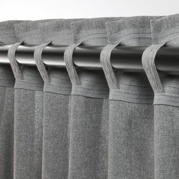 ХАННАЛЕНА світлонепроникні штори, пара сірий 300 см 145 см 1.87 кг 4.35 м² 2 штук