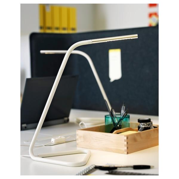 HÅRTE ХОРТЕ LED робочий світильник, білий/сріблястий