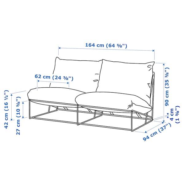 HAVSTEN ХАВСТЕН 2-місний диван, кімнатний/вуличний, без підлокітників/бежевий, 164x94x90 см