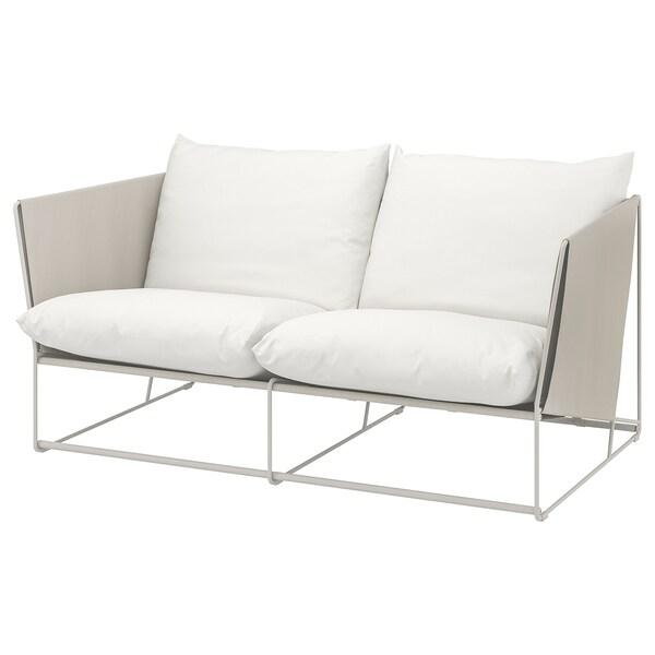 HAVSTEN ХАВСТЕН 2-місний диван, кімнатний/вуличний, бежевий, 179x94x90 см