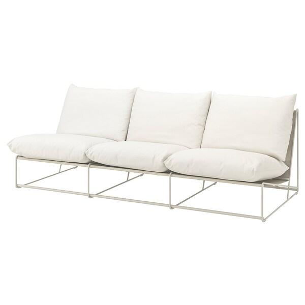 HAVSTEN ХАВСТЕН 3-місний диван, кімнатний/вуличний, без підлокітників/бежевий, 245x94x90 см
