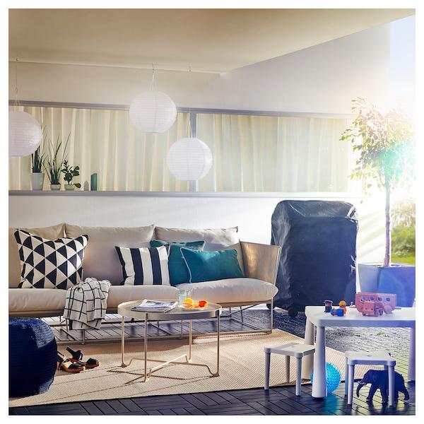 HAVSTEN ХАВСТЕН 3-місний диван, кімнатний/вуличний, бежевий, 260x94x90 см