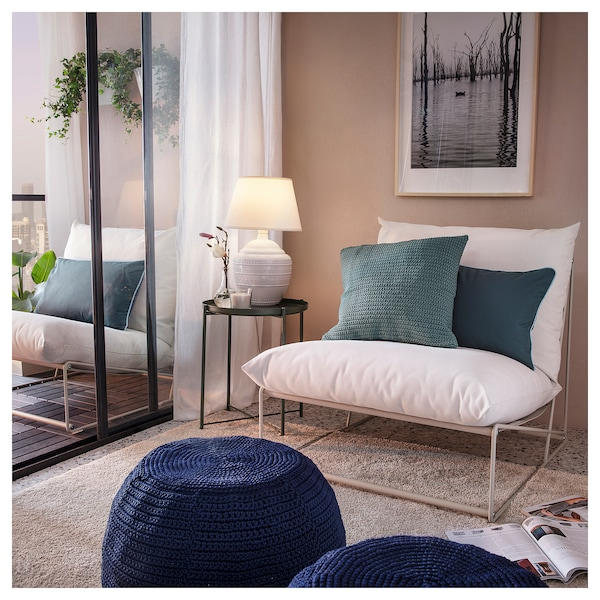 HAVSTEN ХАВСТЕН Крісло, кімнатне/вуличне, бежевий, 83x94x90 см