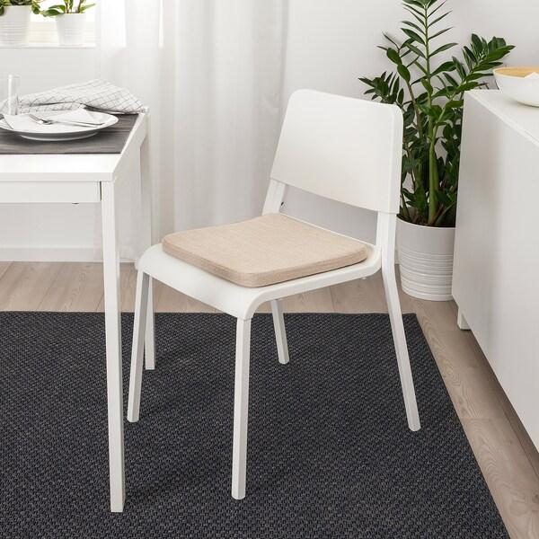 ХІЛЛАРЕД подушка на стілець бежевий 36 см 36 см 3.0 см 280 г