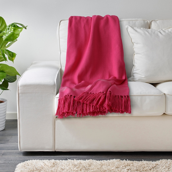 HILLEGÄRD ХІЛЛЕГЕРД Плед, ручна робота/рожевий, 110x170 см