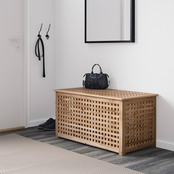 ХОЛЬ Стіл-скриня, акація, 98x50 см