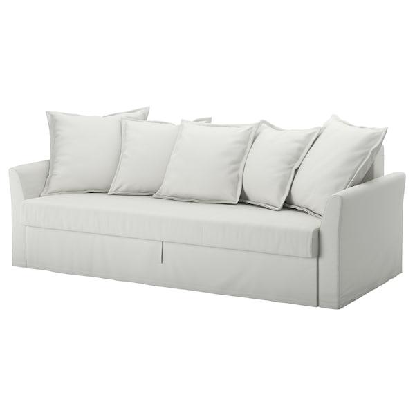 HOLMSUND ХОЛЬМСУНД 3-місний диван-ліжко, ОРРСТА світлий біло-сірий