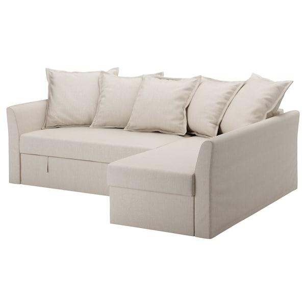 HOLMSUND ХОЛЬМСУНД Чохол для кутового дивана-ліжка, НОРДВАЛЛА бежевий