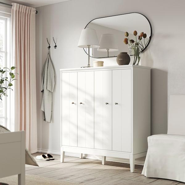 IDANÄS ІДАНЕС Шафа з дверцятами-книжкою, білий, 121x135 см