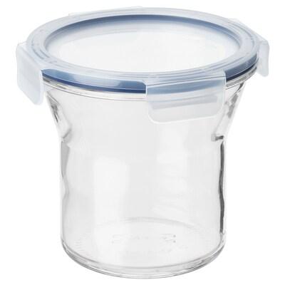 IKEA 365+ Банка із кришкою, скло/пластик, 1.0 л
