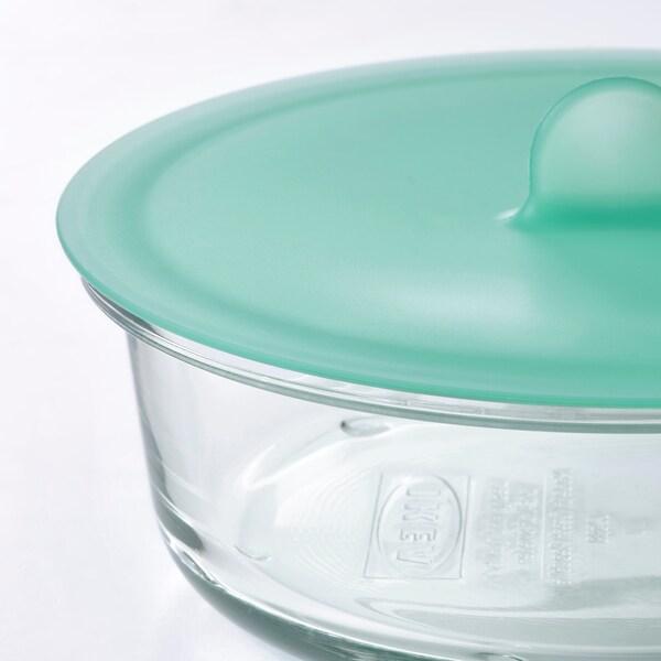 IKEA 365+ Харчовий контейнер, круглої форми/скло, 400 мл