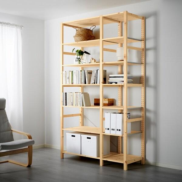 IVAR ІВАР 2 секції/полиці, сосна, 134x50x226 см
