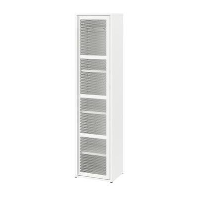 IVAR ІВАР Шафа з дверцятами, білий сітка, 40x160 см
