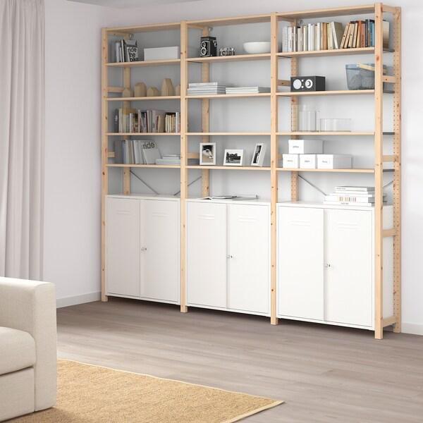 IVAR ІВАР Шафа з дверцятами, білий, 80x83 см