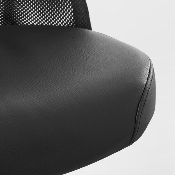 ЄРВФЙЕЛЛЕТ офісний стілець ГЛОСЕ чорний 110 кг 68 см 68 см 140 см 52 см 46 см 45 см 56 см
