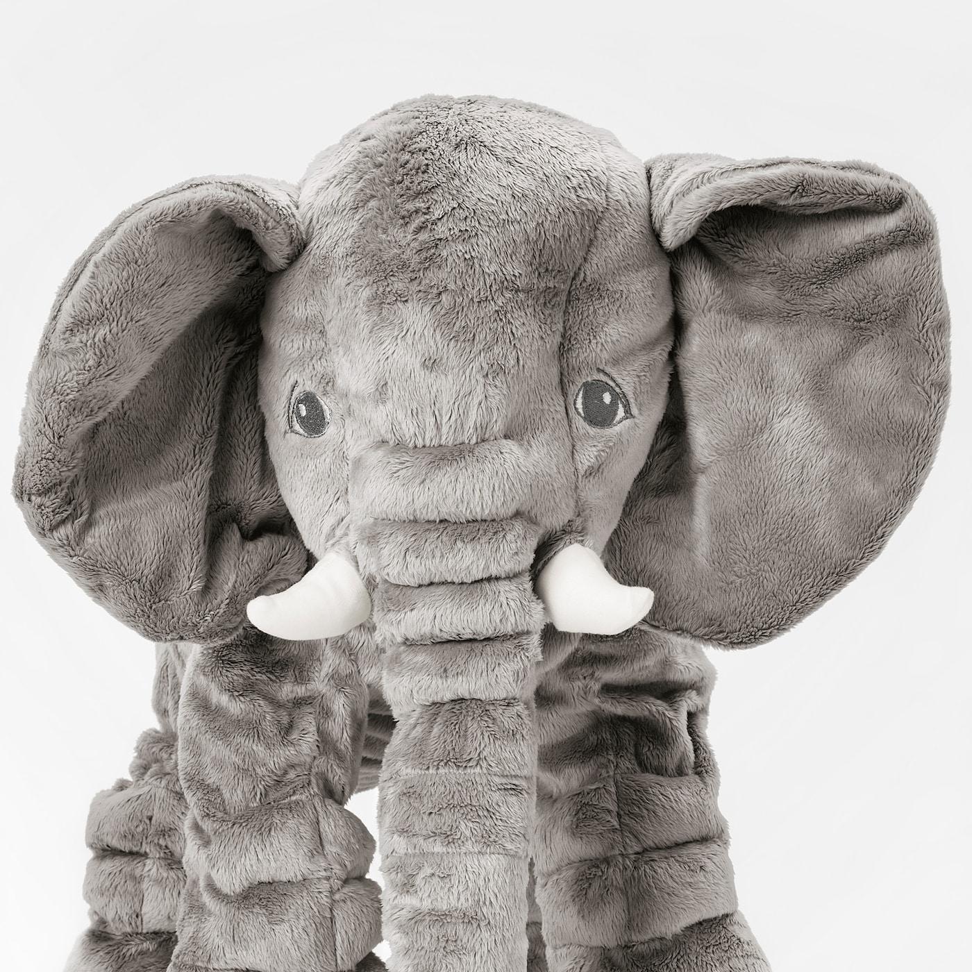 ЄТТЕСТОР іграшка м'яка слон/сірий 60 см