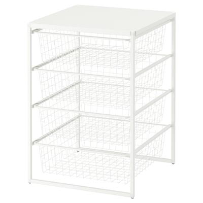 JONAXEL ЙОНАКСЕЛЬ Каркас/дротяні кошики/верхня полиця, білий, 50x51x70 см