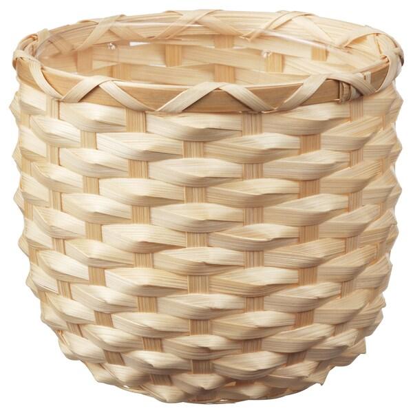KAFFEBÖNA КАФФЕБЕНА Кашпо, бамбук, 12 см