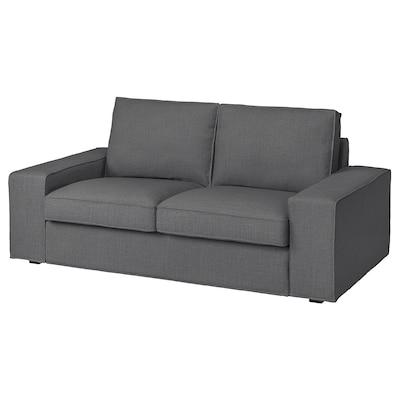 KIVIK КІВІК 2-місний диван, СКІФТЕБУ темно-сірий