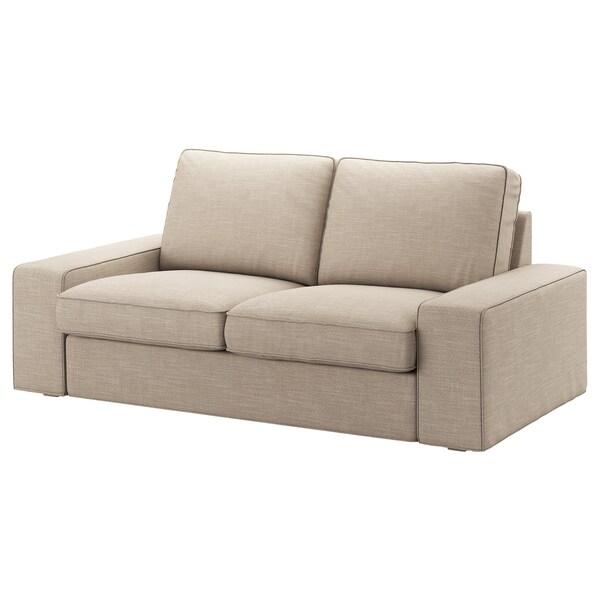 KIVIK КІВІК Чохол для 2-місного дивана, ХІЛЛАРЕД бежевий
