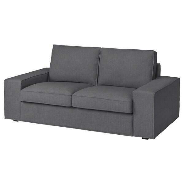 KIVIK КІВІК Чохол для 2-місного дивана, СКІФТЕБУ темно-сірий
