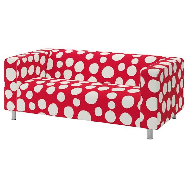 KLIPPAN КЛІППАН Чохол для 2-місного дивана, СТОРВРЕТА червоний/білий