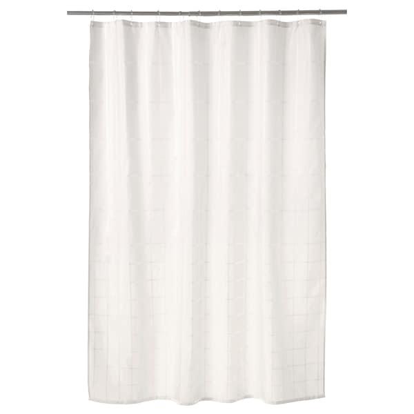 KLOCKAREN КЛОККАРЕН Шторка для душу, кремово-білий, 180x200 см
