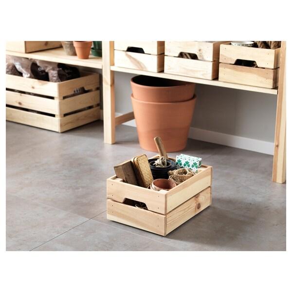 КНАГГЛІГ Коробка, сосна, 23x31x15 см