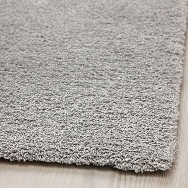 KNARDRUP КНАРДРУП Килим, короткий ворс, світло-сірий, 133x195 см