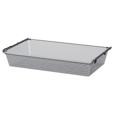 KOMPLEMENT КОМПЛЕМЕНТ Сітчастий кошик із напрямною рейкою, темно-сірий, 100x58 см