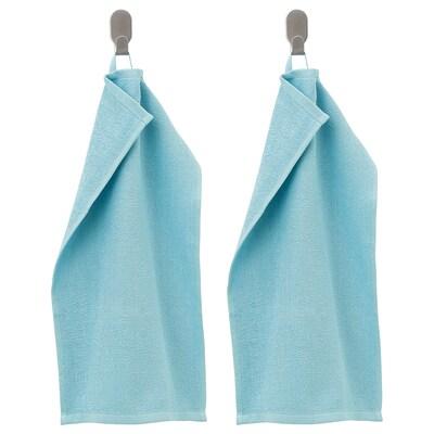 KORNAN КОРНАН Гостьовий рушник, світло-синій, 30x50 см