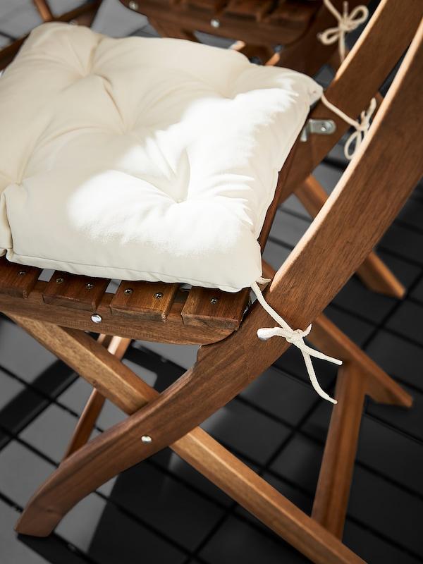 KUDDARNA КУДДАРНА Подушка на стілець, для вулиці, бежевий, 36x32 см