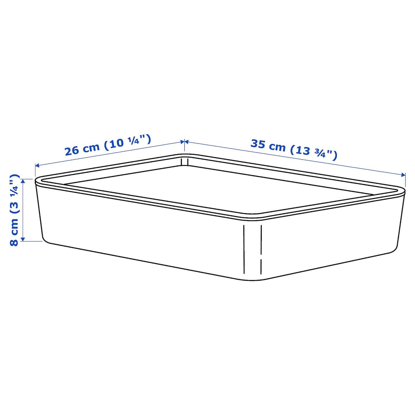 KUGGIS КУГГІС Коробка з кришкою  - білий 26x35x8 см