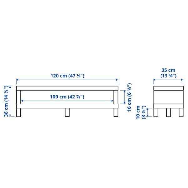 LACK ЛАКК Тумба під телевізор, білий, 120x35x36 см