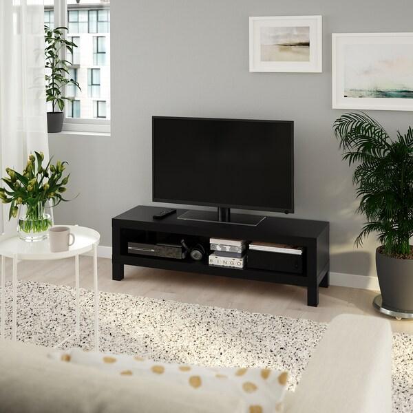 LACK ЛАКК Тумба під телевізор, чорно-коричневий, 120x35x36 см