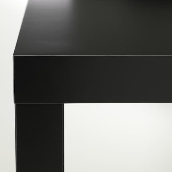 ЛАКК журнальний столик чорний 55 см 55 см 45 см 25 кг